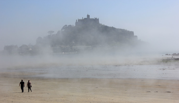 St Michael's Mount in the the mist